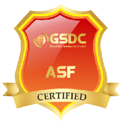 Certification badge for Agile Scrum Foundation