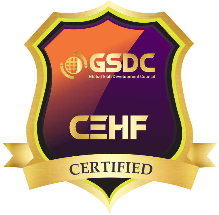 Certification badge for Ethical Hacking Foundation