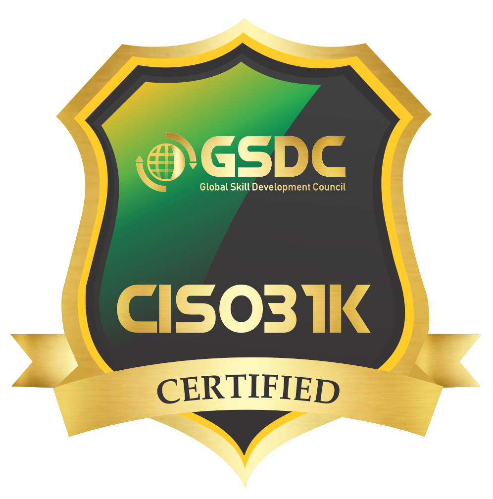 Certification badge for Certified ISO 31000 Risk Manager