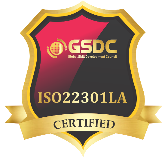 Certification badge for Certified ISO 22301:2019 Lead Auditor