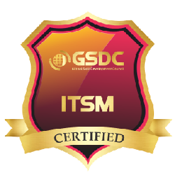 Certification badge for agile service management