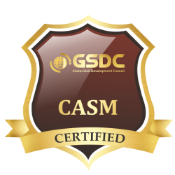 Certification badge for agile scrum master