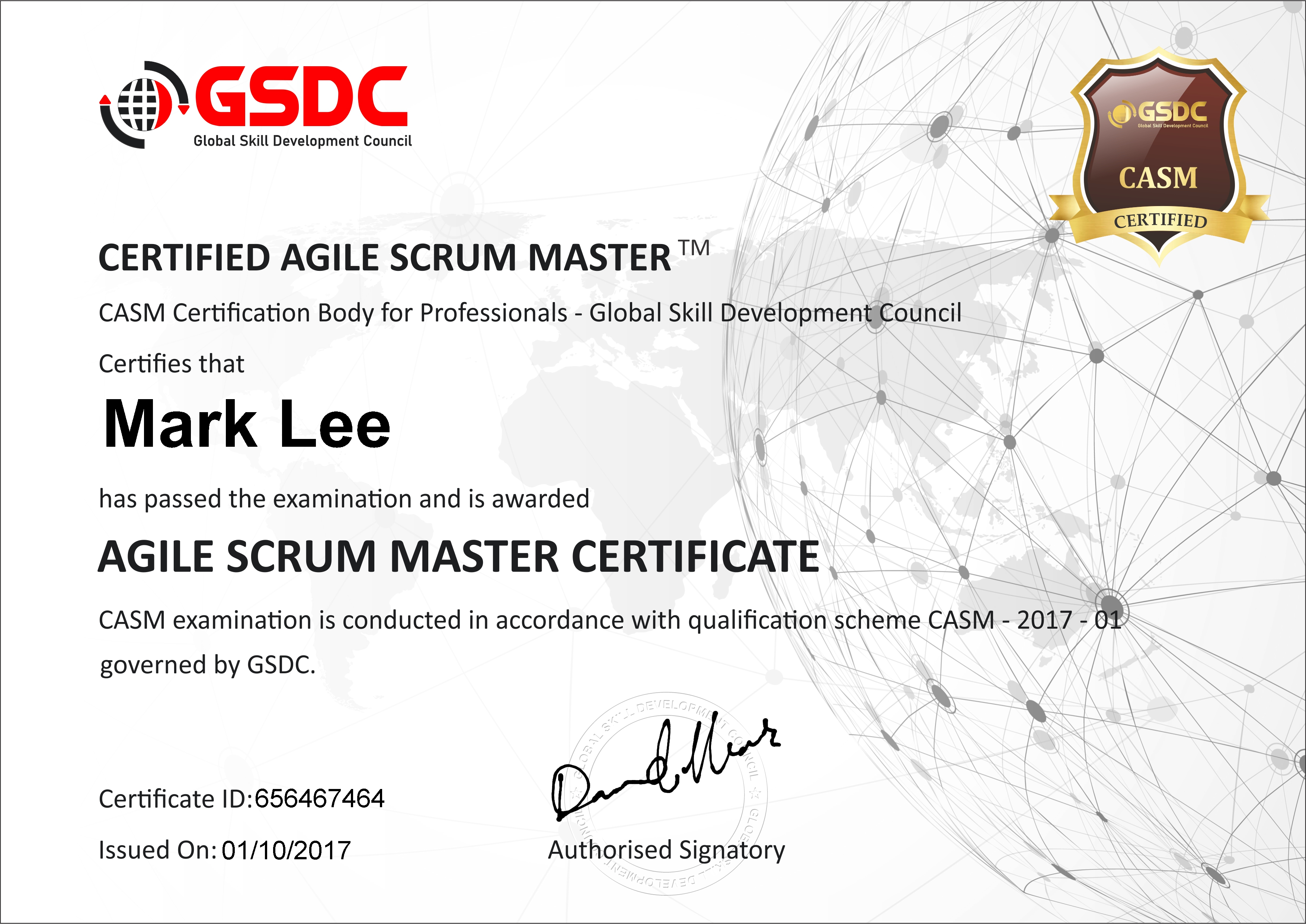 Certified Agile Scrum Master Casm Gsdcouncil