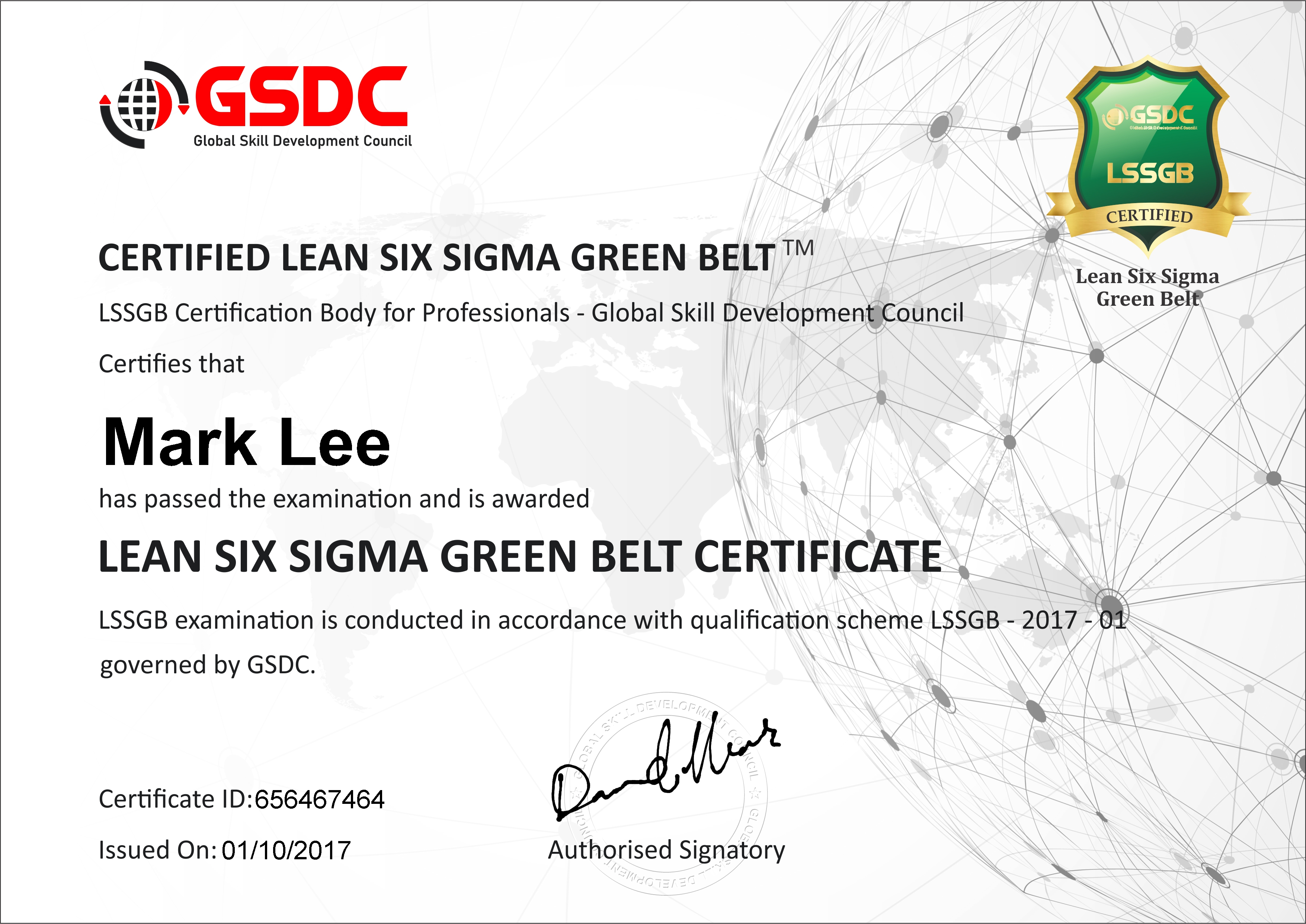 Lean Six Sigma Green Belt Training Certification Gsdcouncil